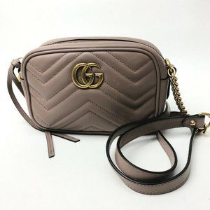 GUCCI GG Mermont Quilted Chain Shoulder Bag Pochet